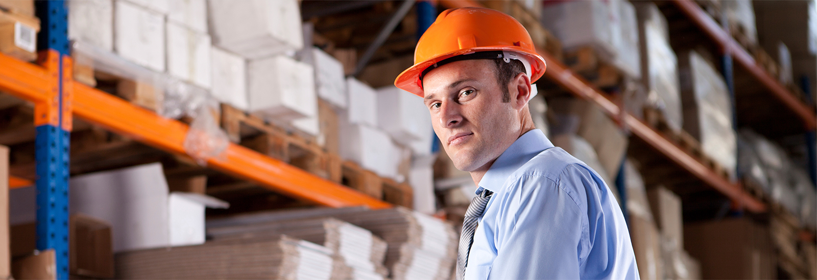 An employee at a wholesaler prepares to get the product to ship