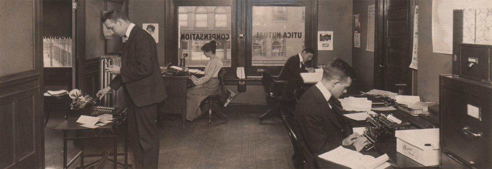 Utica Mutual's first office in Utica, NY, 1914.